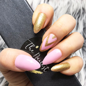 INSTANT GLAM- CHEVY-GOLD PINK SET