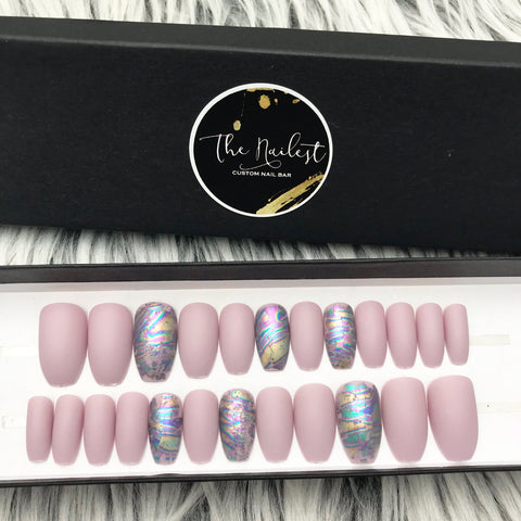 DAZZLE LAVENDER- WITH Oil SLICK FOIL ACCENT SET