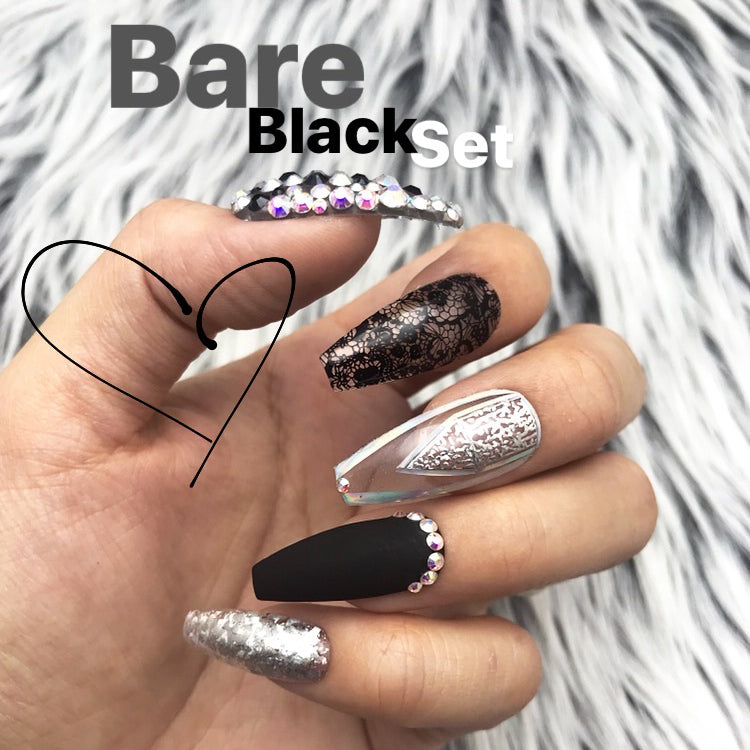 BARE BLACK CRYSTAL SET
