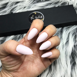 INSTANT GLAM-SOLID MATTE PINKWHIP STILETTO SET