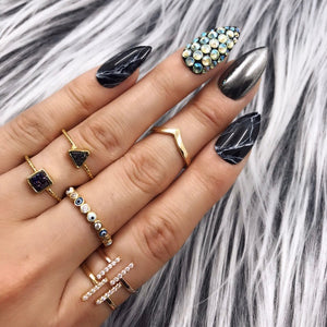 BLACK GUNMETAL CHROME MARBLE SET