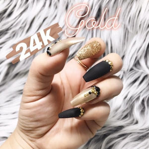 24K GOLDILOCKS PRESS ON NAILS SET