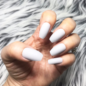 INSTANT GLAM- SOLID MATTE GRAY GREY COFFIN SET