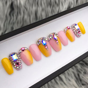LEMONADE YELLOW PINK CRYSTALS SET