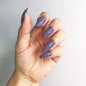 INSTANT GLAM- DARK MAUVE STILETTO