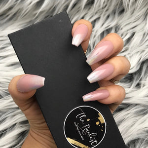 HANDMADE- TOFFEE NUDY OMBRE PRESS ON NAILS SET