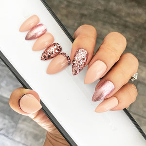 PINK ROSE GOLD CHUNKY GLITTER SET