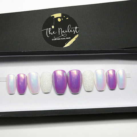UNICORN MAGIC PURPLE/WHITE CHROME SET