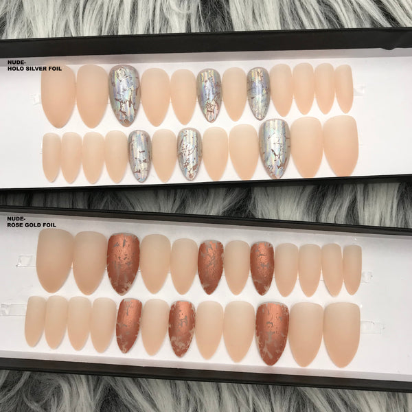 DAZZLE NUDE- STILETTO W/ ACCENT SET