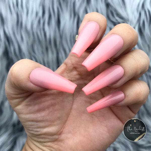 SWEET PEACH BELLINI OMBRE PRESS ON NAIL SET