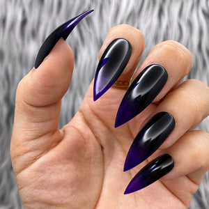 HANDMADE- WITCH HUNT GLOSSY BLACK PURPLE OMBRE