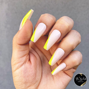 INSTANT GLAM- NEON GLORY MEDIUM COFFIN PRESS ON NAIL SET