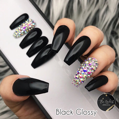 BLING CRYSTAL ACCENT W SOLID- MATTE OR GLOSSY