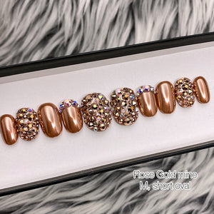 SAMPLE SET- ROSE GOLD MINE, SHORT OVAL, SIZE M