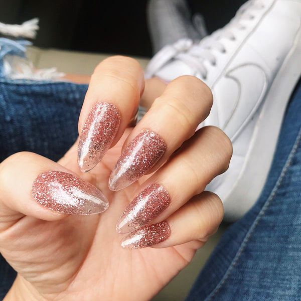 SPARKLING GLITTER OMBRÉ PRESS ON NAILS SET- ROSE GOLD OR GOLD