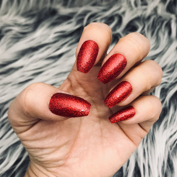 INSTANT GLAM- SUGAR RED GLITTER SET