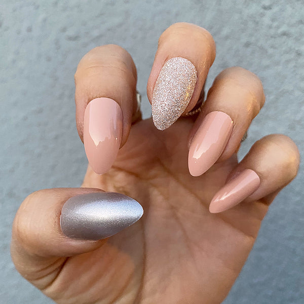 INSTANT GLAM- BALLERINA PINK PRESS ON NAIL SET