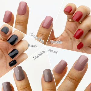 INSTANT GLAM- SHORTIE SHORT SQUARE SOLID PRESS ON NAIL SETS