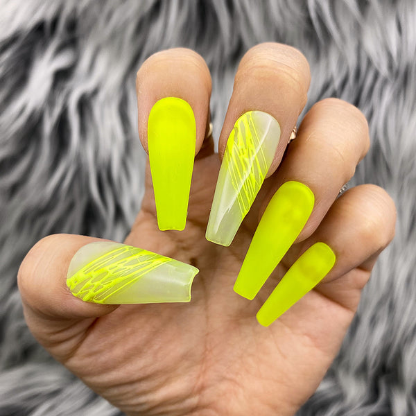 HANDMADE- NEON SPLASH PRESS ON NAILS SET
