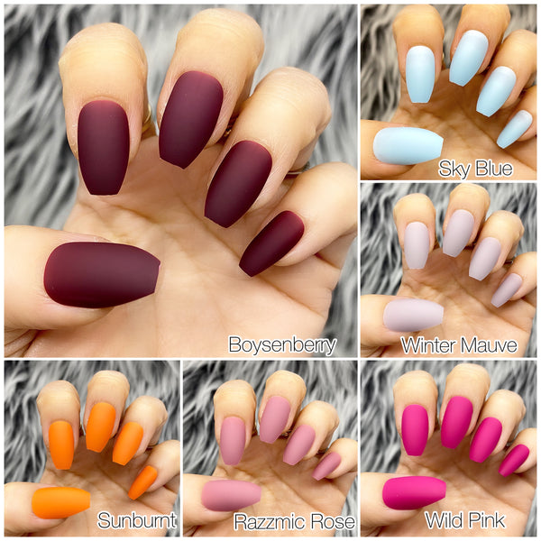 INSTANT GLAM- SOFT MATTE COFFIN SOLID SETS