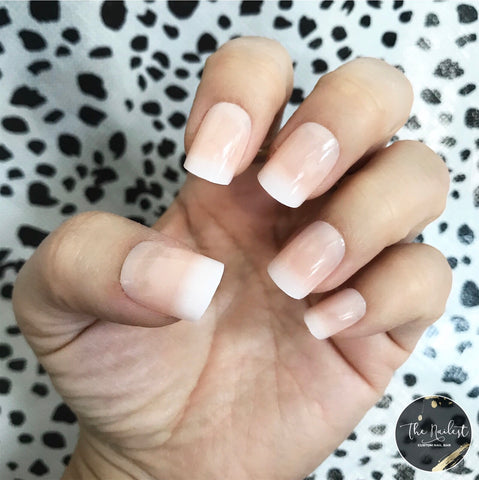 INSTANT GLAM- SHORT SQUARE BABY BOOMER NUDE OMBRÉ SET