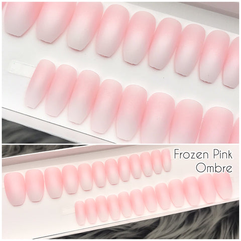 INSTANT GLAM- FROZEN PINK OMBRÉ PRESS ON SET