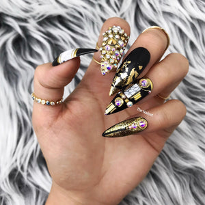 YOUR HIGHNESS SWAROVSKI CRYSTALS PRESS ON NAILS SET