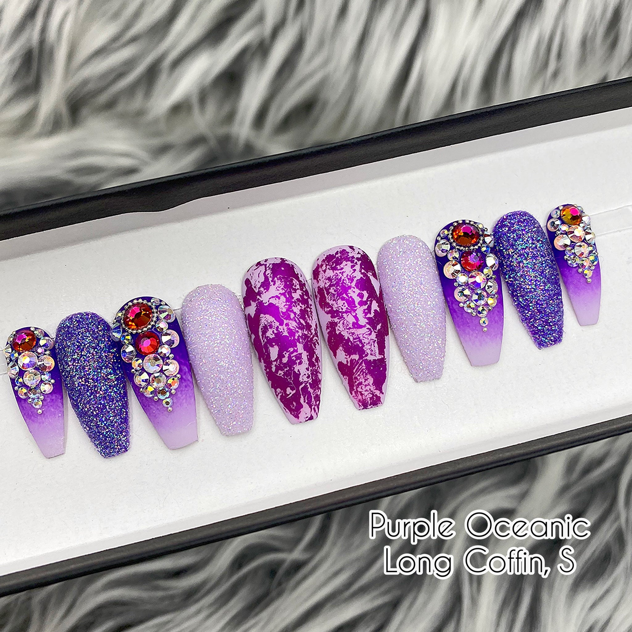 SAMPLE SET- PURPLE OCEANIC - LONG COFFIN, SIZE S