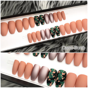 INSTANT GLAM- CAMOUFLAGE BOMB PRESS ON NAIL SET