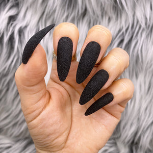 INSTANT GLAM- MATTE BLACK RAW SUGAR GLITTER SET