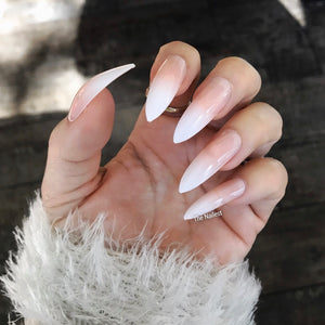 INSTANT GLAM- LONG STILETTO BABY BOOMER NUDE OMBRÉ SET
