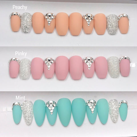 BABY MATTE SET- PINK OR PEACHY OR MINT