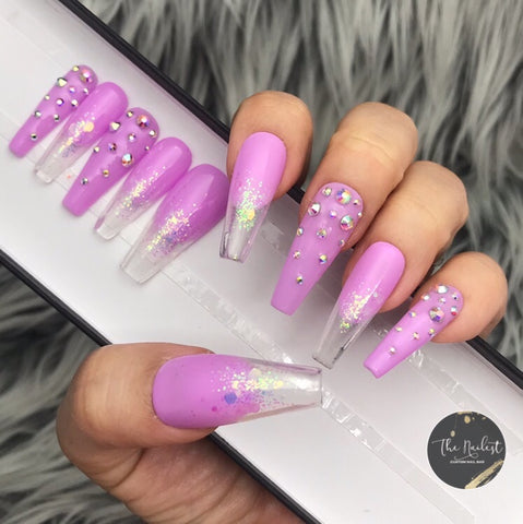 ORCHID GLITTER BREEZY CRYSTAL SET