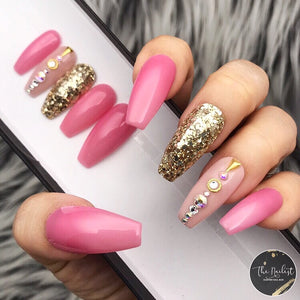 STRAWBERRY LOLLIPOP PRESS ON NAILS SET