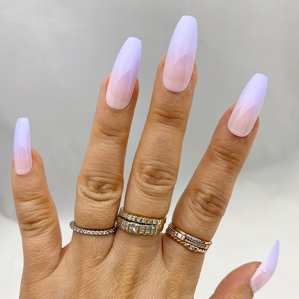 INSTANT GLAM- FAIRYTALE OMBRÉ LONG COFFIN SET