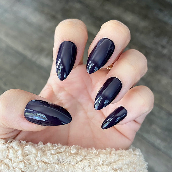 INSTANT GLAM- GLOSSY SHINY STILETTO SOLID SETS