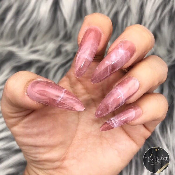 INSTANT GLAM- PINK SMOKY MARBLE