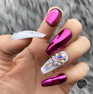 MAGENTA CHROME MARBLE CRYSTAL SET