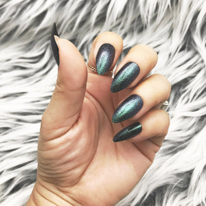 INSTANT GLAM- GREEN GALAXY SHIMMERY FULL SET