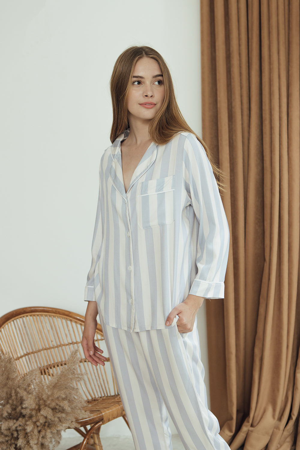 Ellery Top/ Bluebell Stripes