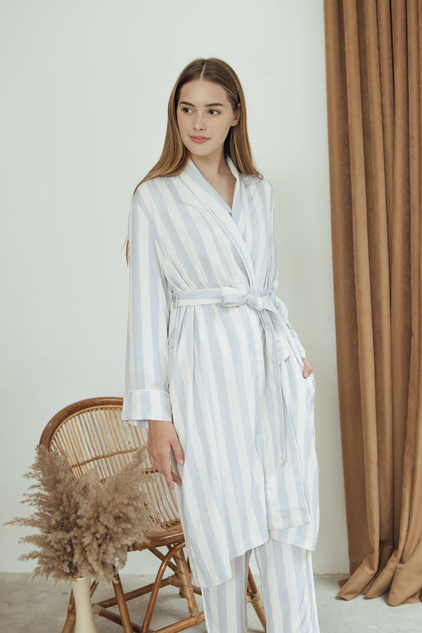 Stella Robe/ Bluebell Stripes