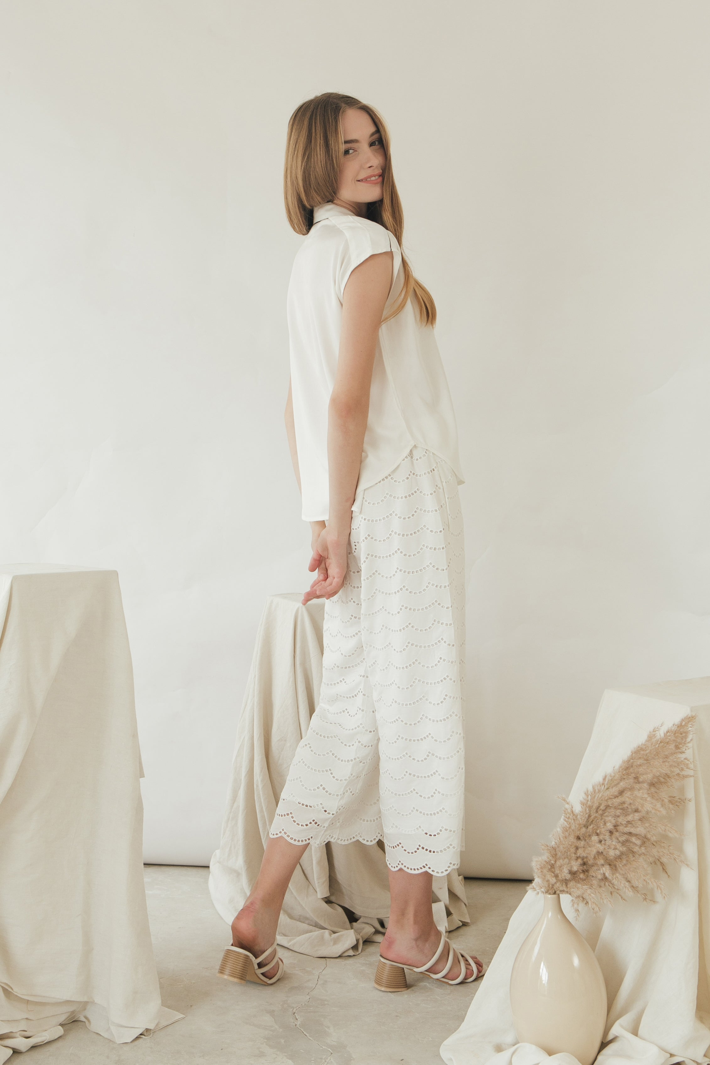 Margot Pants/ White
