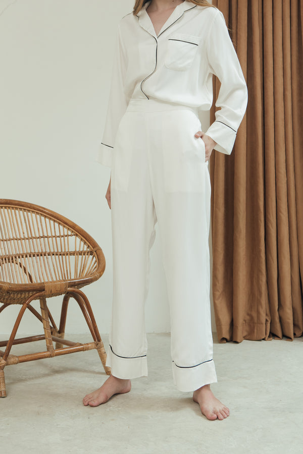 Ella Trousers/ White