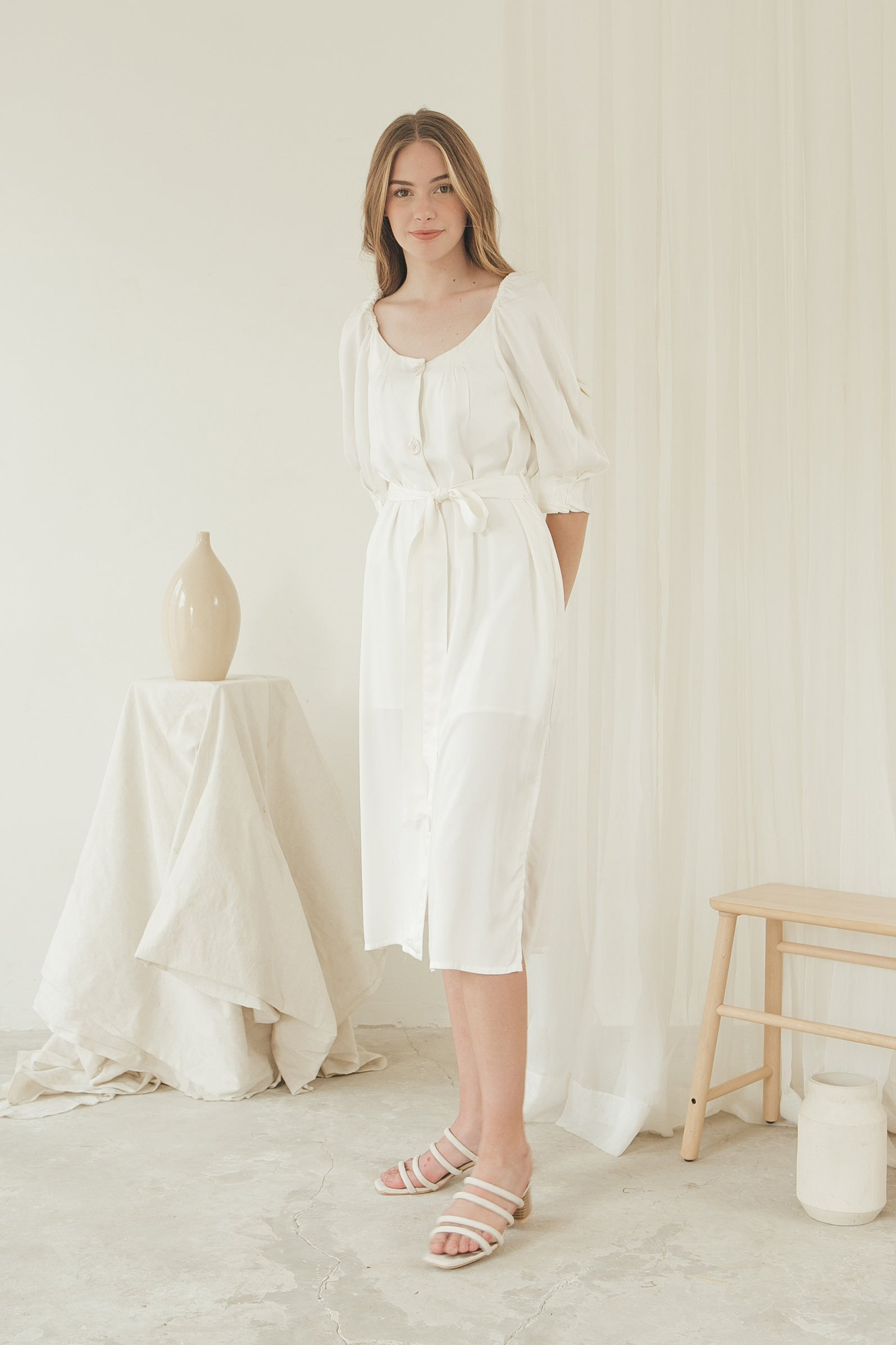Luna Dress/ White