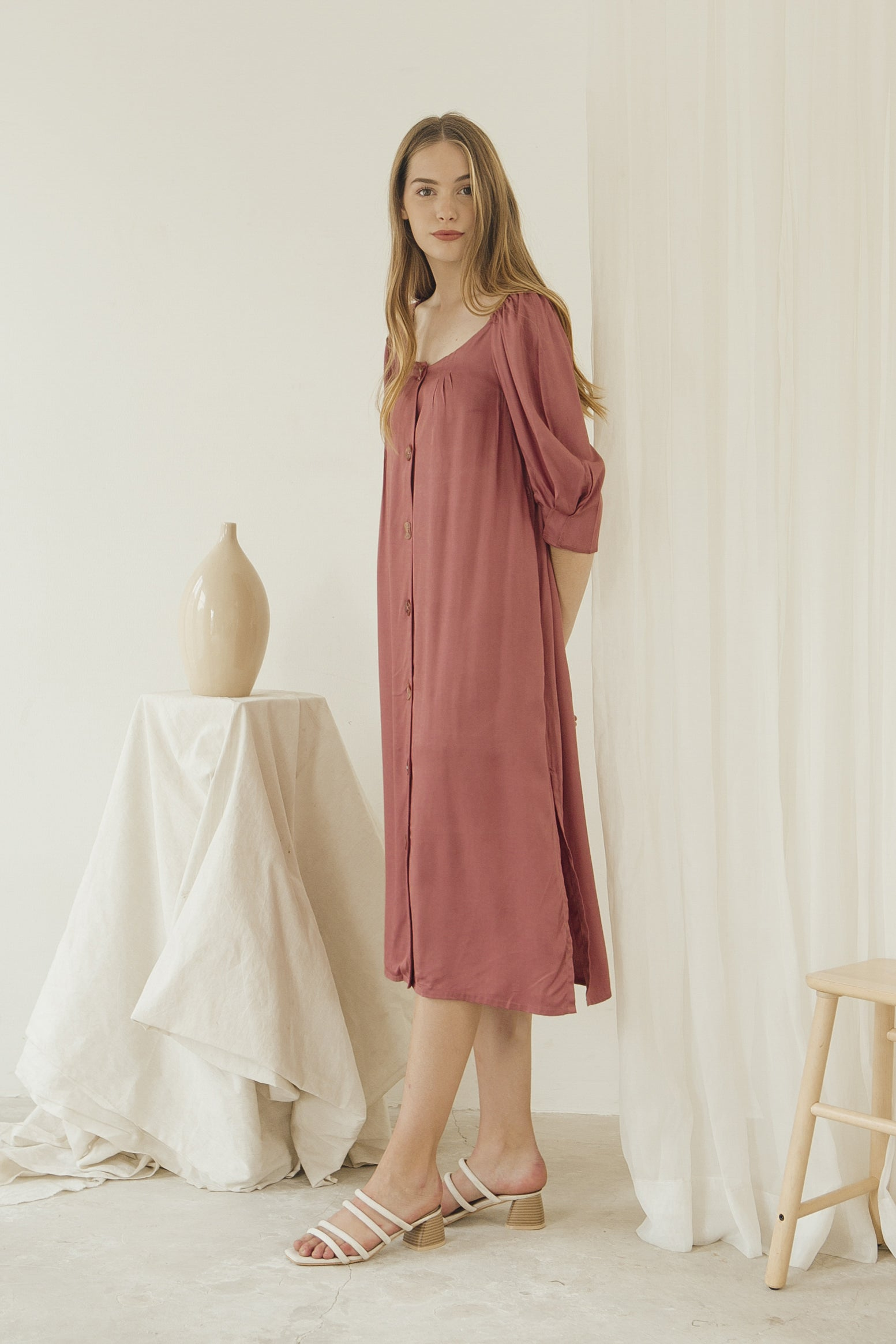 Luna Dress/ Berry