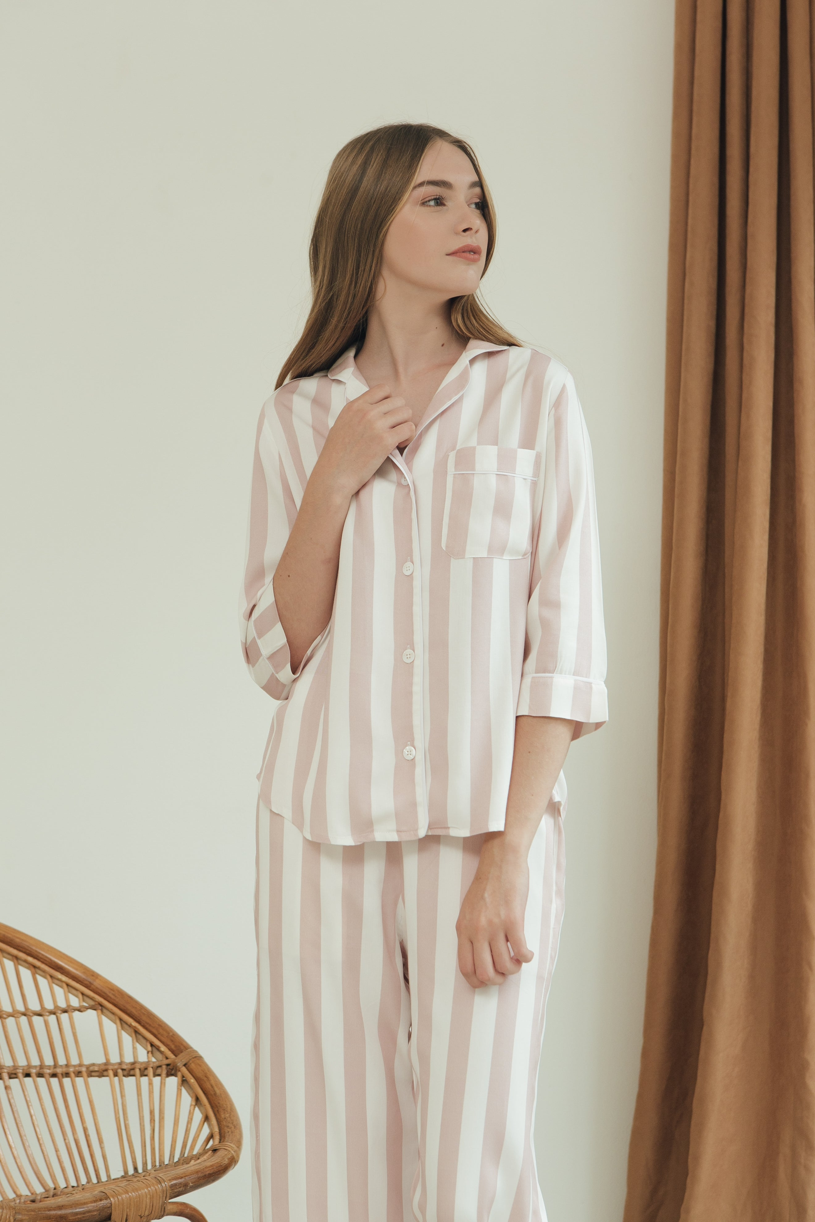 Madeleine Top/ Blush Stripes