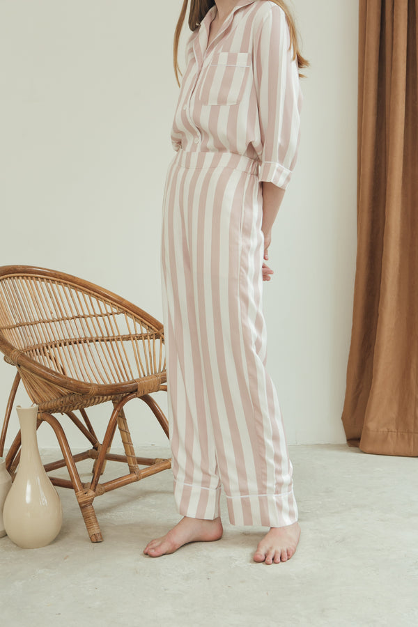 Ella Trousers/ Blush Stripes