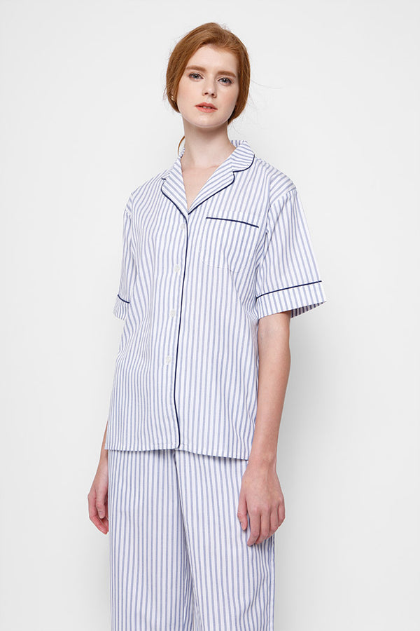 Janis PJ Set/ Stripe Blue and White