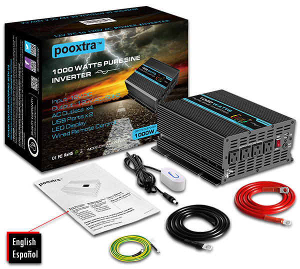 MASTERsine pure sine wave power inverter 1000W with colorbox