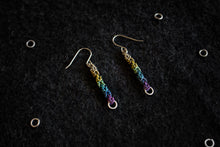 "Apo A Nani - Handmade Titanium Earrings #11 - ""Prism Bars"""